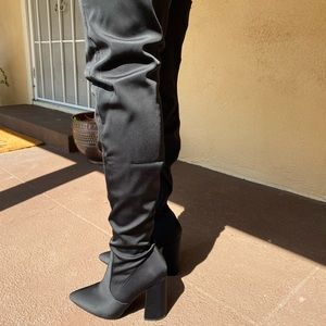 PrettyLittleThing Shoes - Block Heel Thigh High Boots